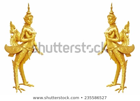 arany · szobor · templom · smaragd · Buddha · Bangkok - stock fotó © AEyZRiO