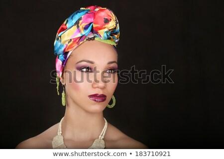 Anlamlı güzel kadın dramatik aydınlatma Stok fotoğraf © tobkatrina