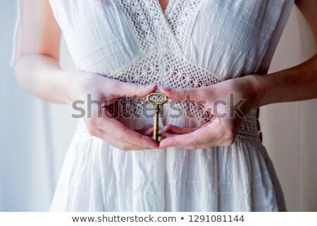 Stockfoto: Hand · oude · sleutels · vintage · metaal