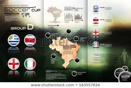 Brasil fútbol campeonato 2014 grupo banderas Foto stock © cienpies