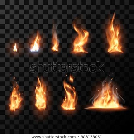 Resumen llameante antorcha fuego deporte diseno Foto stock © pathakdesigner