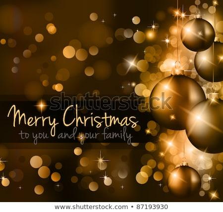 Gold · Weihnachten · Spielerei · rot · Bogen · Illustration - stock foto © davidarts
