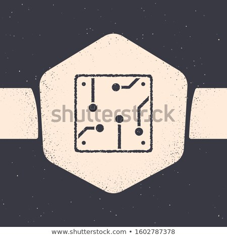 Stock photo: Data Processing. Vintage design.