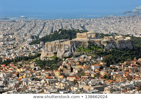 overview of acropolis in athens greece stock photo © andreykr