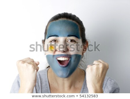 Young Female Sports Fan With Argentinian Flag Painted On Face Stock photo © monkey_business