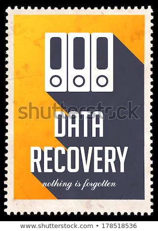 Data Recovery on Yellow in Flat Design. Stock photo © tashatuvango