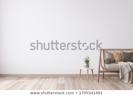 interior · diseno · madera · silla · pared · blanco - foto stock © vizarch