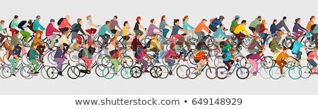 illustrations of bicycle riders  Stock photo © Slobelix