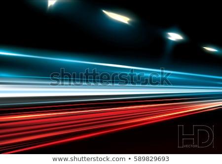 Sokak ışıklar farlar yol soyut seyahat Stok fotoğraf © bmonteny