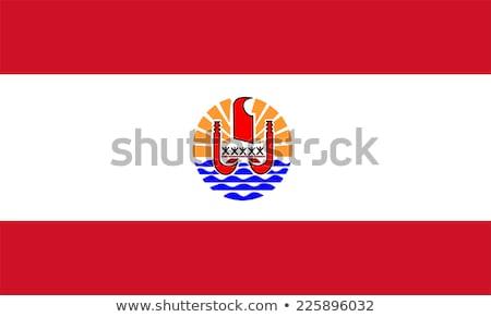 Bandeira francês polinésia pólo vento Foto stock © creisinger