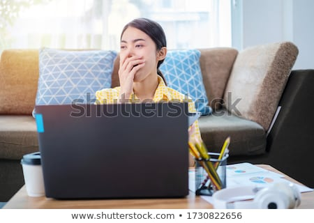Tired young woman sleeping during the daytime Stock photo © dash