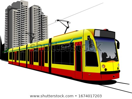 City transport. Tram. Colored Vector illustration for designers Stock photo © leonido