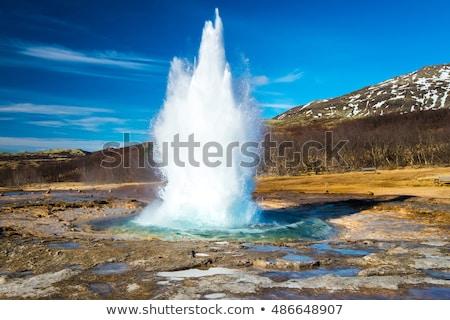 アイスランド 間欠泉 にログイン 有名な 観光地 ストックフォト © Maridav