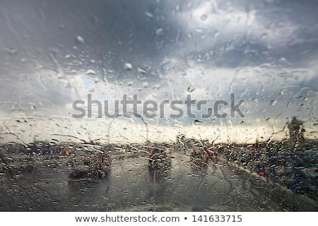 Chuva carro pára-brisas painel de instrumentos tecnologia Foto stock © ssuaphoto