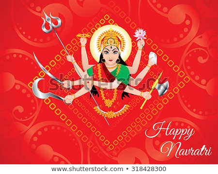 Stock photo: abstract artistic detailed durga background