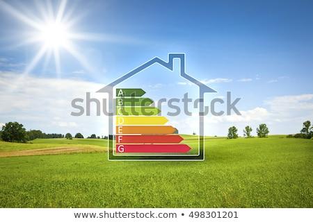 üvegház · energia · ház · épület · technológia · festmény - stock fotó © vadimone
