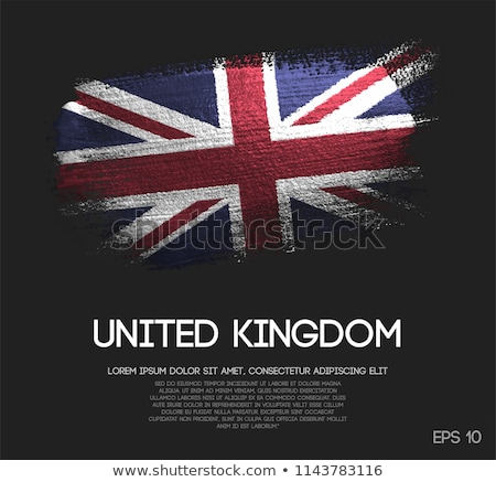 Flag of Great Britain made of sparkles on black Stock photo © vlad_star