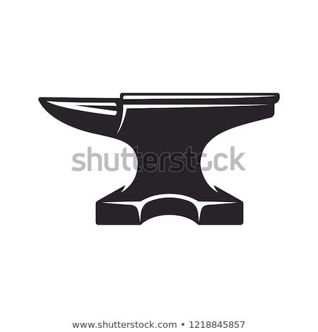 üllő · izolált · illusztráció · kovács · kalapács · klasszikus - stock fotó © flipfine