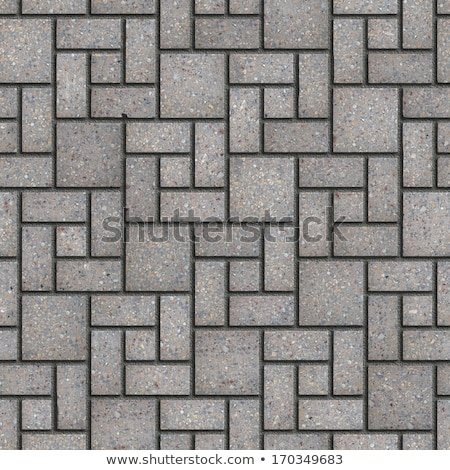 grey pavement of figured slabs stock photo © tashatuvango