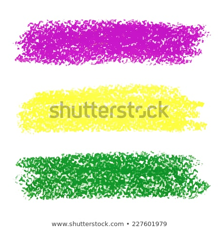 Vector Mardi Gras pastel crayon brush strokes Stock photo © gladiolus
