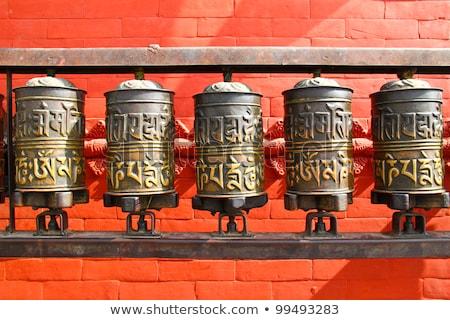 dua · tekerlekler · Nepal · ibadet · Asya · tekerlek - stok fotoğraf © jameswheeler