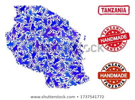 Tanzania czerwony pieczęć napis odizolowany Zdjęcia stock © tashatuvango