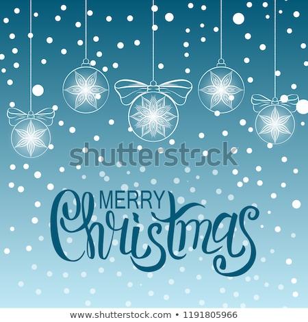 Blue Christmass ball Stock photo © Johny87