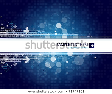 arrow blue background with place for your text stock photo © helenstock
