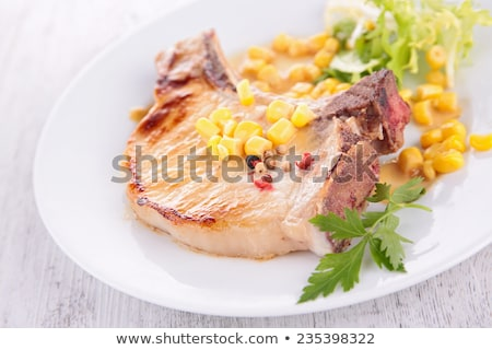 grilled meat and cornn sauce Stock photo © M-studio