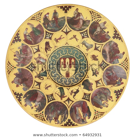 Zodiac Calendar of Prague Astronomical Clock cutout stock photo © DragonEye