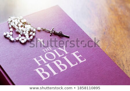 Holy Scripture with crucifix on cover Stock photo © caimacanul