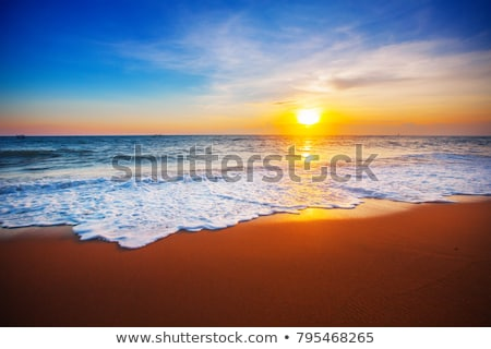 Stock photo: Beautiful beach in sunset light