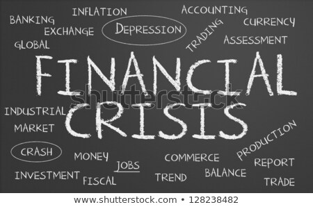 Tekst Blackboard geld financiële crisis business teken Stockfoto © Zerbor