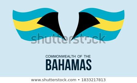 Map on flag button of Commonwealth of The Bahamas Stock photo © Istanbul2009