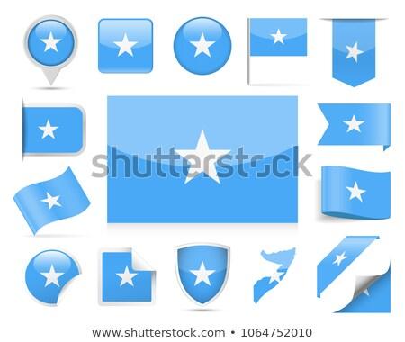 Сомали · флаг · кнопки · текстуры · знак · синий - Сток-фото © istanbul2009