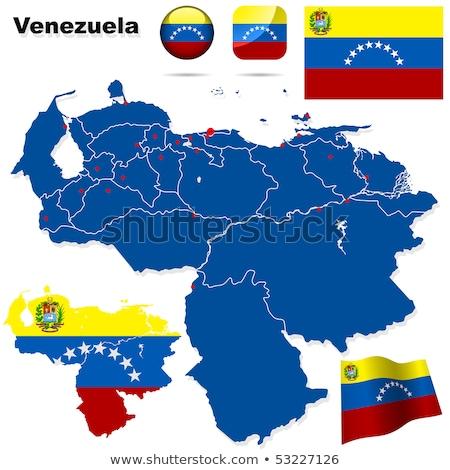 ベネズエラ · 政治的 · 地図 · カラカス · 重要 - ストックフォト © istanbul2009