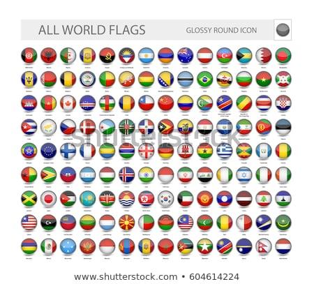 Brezilya bayrak dünya bayraklar toplama doku Stok fotoğraf © dicogm