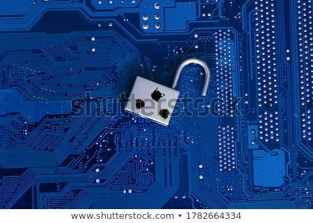 Veiligheid kwetsbaarheid gebroken sleutel geschreven woord Stockfoto © olivier_le_moal