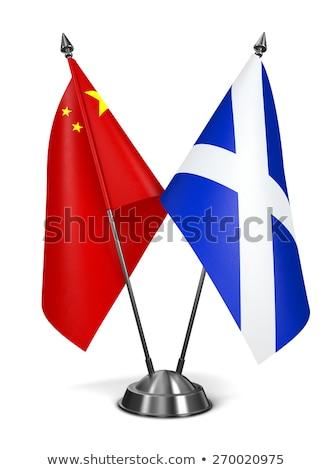 China and Scotland - Miniature Flags. Stock photo © tashatuvango