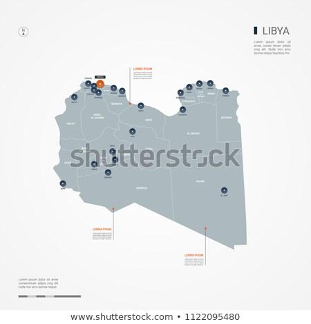 Narancs gomb kép térképek Líbia űrlap Stock fotó © mayboro