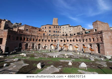 A panoramic view on Trajan's Market (Mercati Traianei) in Rome,  Stock photo © vladacanon