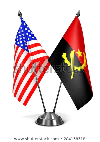 USA and Angola - Miniature Flags. Stock photo © tashatuvango