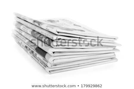 stack of newspapers on a white background stock photo © zerbor