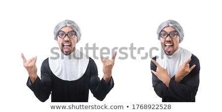 Giovane indossare suora isolato bianco ragazza Foto d'archivio © Elnur