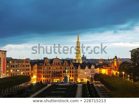 Bruxelas Bélgica noite edifício linha do horizonte gótico Foto stock © AndreyKr