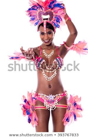 Szamba táncos viselet női teljes alakos portré Stock fotó © stockyimages