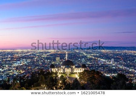 Los Angeles noc budynku niebieski panoramę posąg Zdjęcia stock © AndreyKr