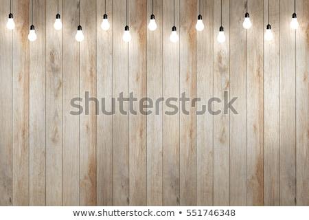 Moderno ao ar livre lâmpada luz parede parede de tijolos Foto stock © stevanovicigor