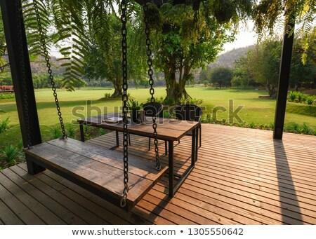 Stock fotó: Fából · készült · naplemente · fény · absztrakt · nap · természet