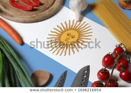 Fából készült zászló grunge nap utazás fehér Stock fotó © olgaaltunina